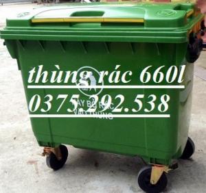 Thùng rác công nghiệp 660lit