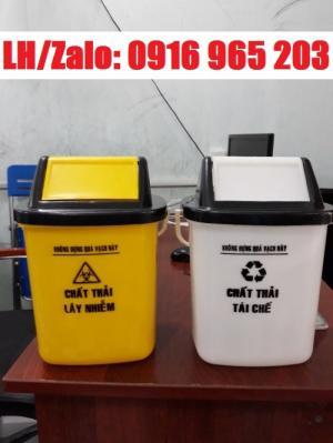 Thùng rác y tế màu trắng 25 lít, thùng rác bệnh viện 25 lít ở đà nẵng