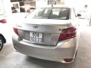 Bán Toyota Vios E 1.5MT màu vàng cát số sàn sản xuất cuối 2016 mẫu mới máy trắng