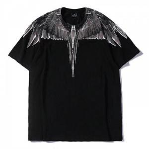 Áo thun nam đen in cánh chim đại bàng xám AT0011