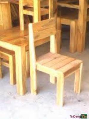 Bàn ghế gổ cafe giá rẻ tại xưởng sản xuất HGH 8871