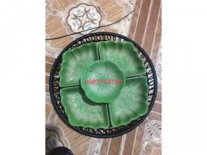 Khay lẩu kem hình sò hàng gốm sứ Bát Tràng