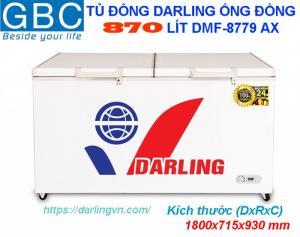 Tủ Đông Darling 1 ngăn dàn lạnh đồng 770-870-970 lít