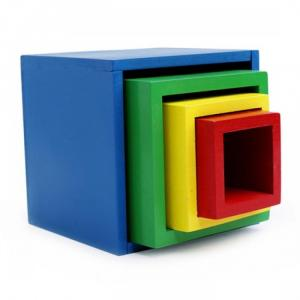 Lồng hộp vuông 4 đồ chơi giáo dục mầm non