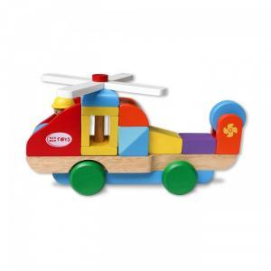 Máy bay trực thăng lắp ráp đồ chơi bằng gỗ