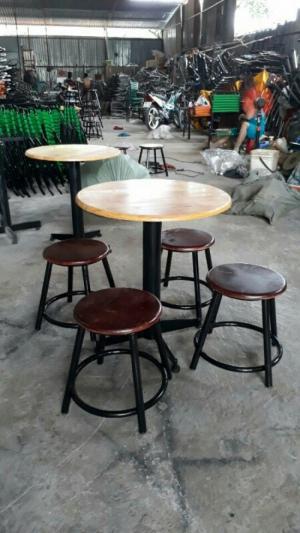 Bàn ghế cafe  giá rẻ tại xưởng sản xuất HGH 781