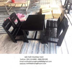 Bàn ghế cafe gỗ thanh lý giá rẻ - tphcm