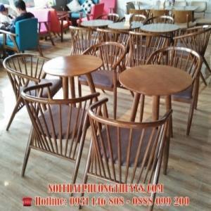Ghế móng ngựa cafe gỗ PT-MNPT01