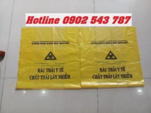 Túi rác y tế, bao rác có in logo phân loại rác y tế dùng trong bệnh viện
