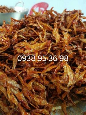Cá cơm rim sa tế tỏi ớt, rim giòn - cá cơm ngào, cá cơm rim me