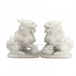 Cặp Tượng Đá Tỳ Hưu Phong Thủy 2 Sừng - Đá Non Nước