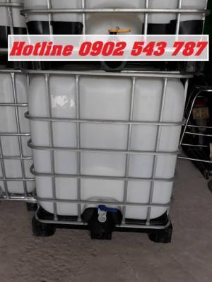 Bồn thùng tank 1000 lít đựng hóa chất, ibc tank đựng hóa chất 1000 lít đã qua sử dụng