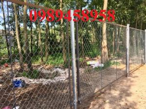 Lưới hàng rào b40 bọc nhựa PVC, Lưới b40 hàng rào bảo vệ cao 2m, 2m4