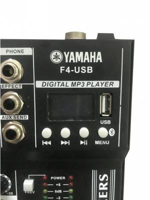 Mixer bàn mini Yamaha bluetooth F4-USB chuyên sân khấu nhỏ