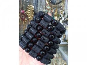 Vòng đá khúc đen nhám 14 mm