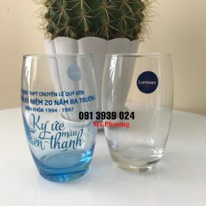 Cung cấp ly thủy tinh in logo, ly thủy tinh quà tặng giá rẻ