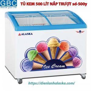 Tủ kem Alaska nắp trượt 500 lít sd-500y
