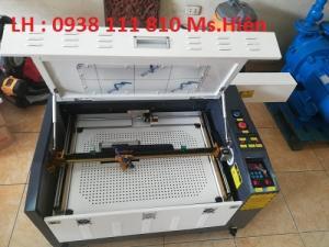 Máy cắt khắc laser 6040, máy laser khắc dấu cao su, máy laser cắt mica
