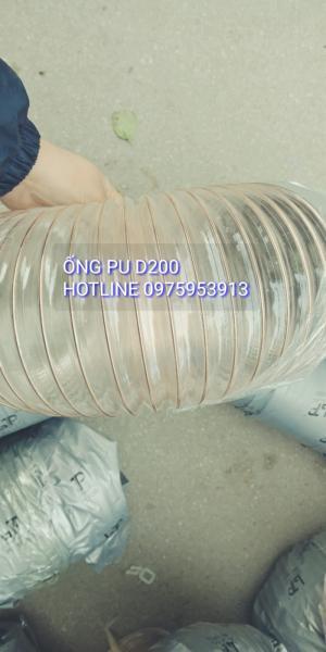 Ống nhựa mềm lõi thép nhựa pu, ống lò xo co giãn chịu nhiệt phi 75 giá rẻ