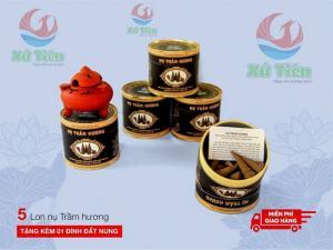 Combo 5 Lon nụ trầm hương Tiên Phước, Quảng Nam + 1 Đỉnh đất nung