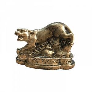 Tượng Đá Trang Trí Hổ Phong Thủy - Màu Nhũ Vàng