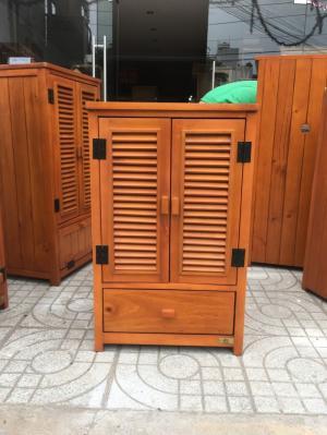 Tủ dép gỗ thông 2 cánh 1 ngăn kéo KT: 50x40x80cm