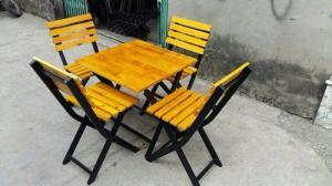 Bàn ghế gổ cafe giá rẻ tại xưởng sản xuất HGH 998