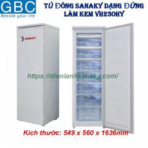Tủ đông Sanaky dạng đứng làm kem VH230HY