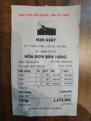 Bán máy tinh tiền trọn bộ cho kinh doanh shop thời trang, phụ kiến, dày dép tại TP Hồ Chí Minh