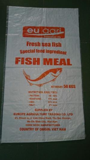 Bao bì thức ăn thủy hải sản PP dệt