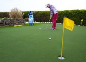 Bộ lỗ golf, cột cờ, lá cờ golf vải mới 100%
