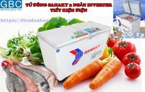 Tủ đông Sanaky 2 ngăn inverter tiết kiệm điện