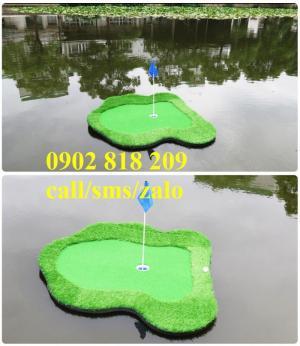 Thảm golf putting nổi cho sân tập golf có hồ