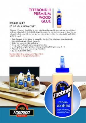 Keo ghép gỗ Titebond II Premium Wood Glue (USA)