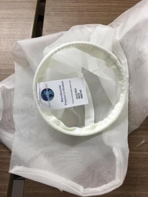 Túi lọc mật ong vành inox 18x81 cm