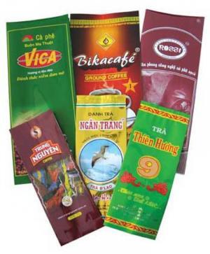 Bao bì túi giấy, túi PA/PE đựng cà phê, trà xanh