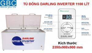 Tủ đông thông minh Darling inverter 1 ngăn 1100 lít