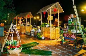 Thi công gian hàng hội chợ ẩm thực - gian hàng bằng tre