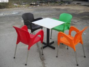 Bàn ghế cafe mây nhựa giá rẻ tại xưởng sản xuất HGH `1036