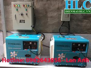 Bán máy phát điện chạy dầu chống ồn Tomikama 5kw, 7kw