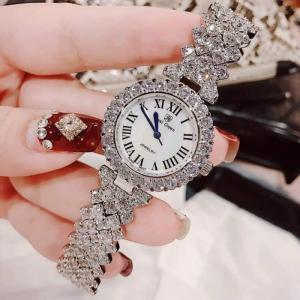 Đồng hồ kim nữ Royal Crown 6305 dây kim loại