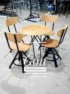 Bàn ghế cafe mây nhựa giá rẻ tại xưởng sản xuất HGH 1062