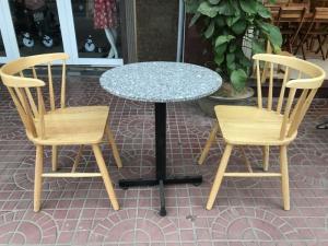 Bộ bàn ghế cafe tròn 60xH70cm