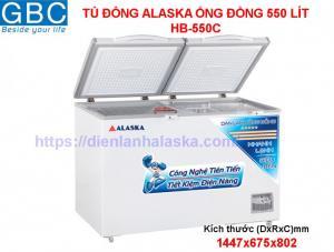 Tủ đông alaska ống đồng 550 lít HB-550C