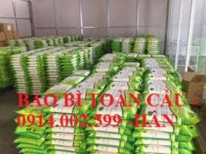 Sản xuất bao bì gạo xuất khẩu 10lbs, 15lbs, 20lbs, 50lbs, 100lbs