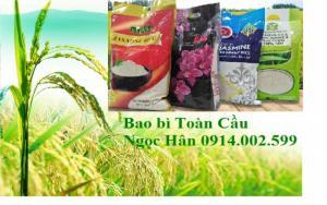 Túi gạo nilong ép xuất khẩu thị trường siêu thị