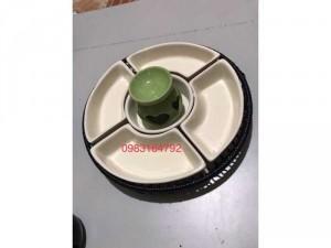 Khay lẩu kem gốm sứ Bát Tràng