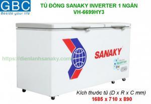 Tủ đông Sanaky 1 ngăn inverter VH-6699HY3
