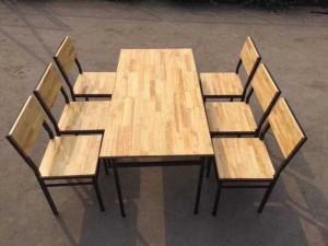 Bộ bàn ghế sắt gỗ