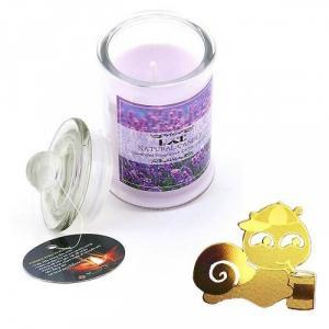Nến thơm oải hương tặng miếng dán chắn sóng - Ốc sên (Jar Candles Lavender )